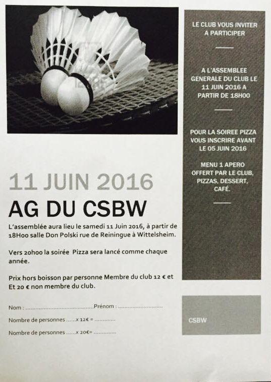 AG du CSBW