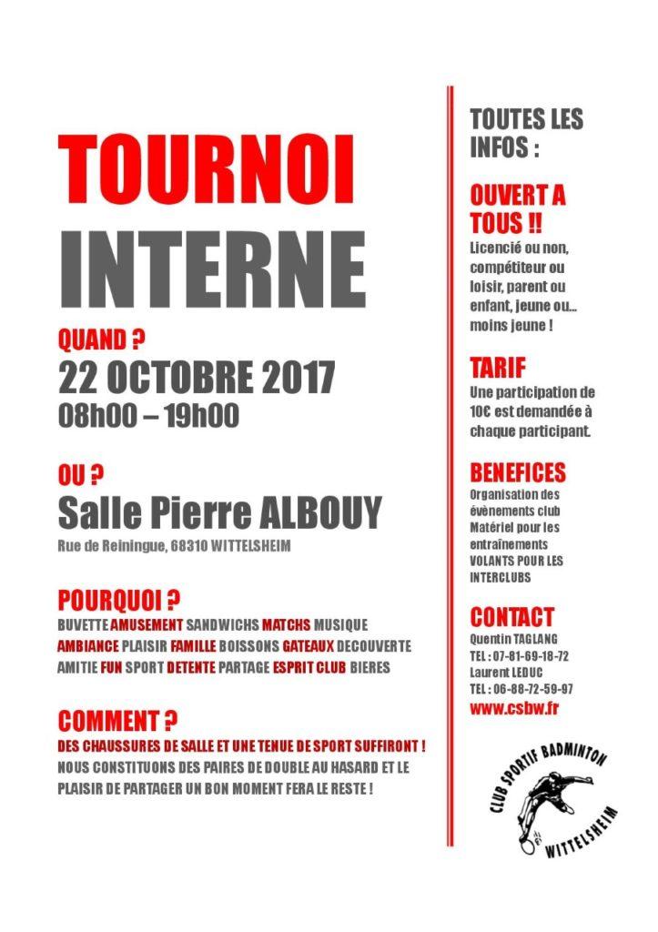 Tournois interne 2017
