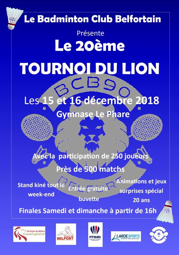20ème tournoi du lion, Belfort 90