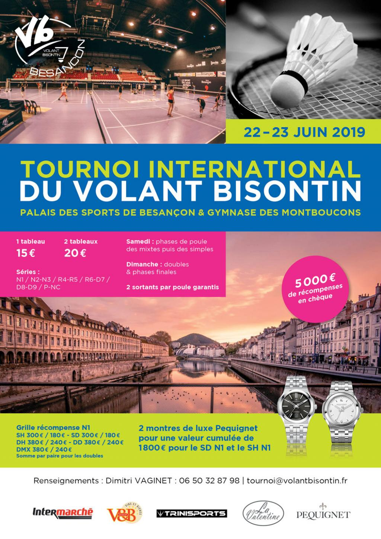 Tournoi international du Volant Bisontin 2019, Besançon 25