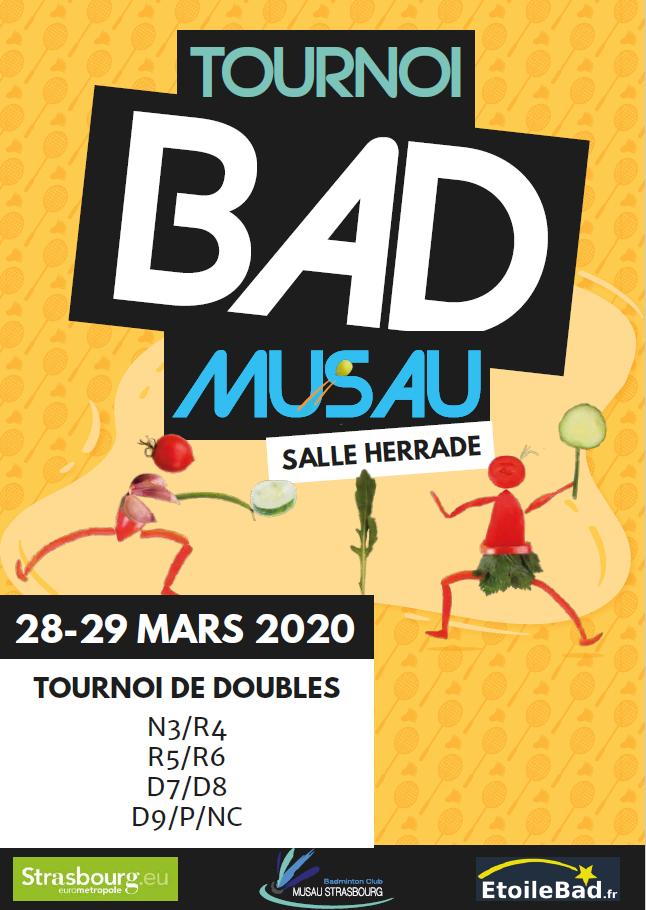 Tournoi de la Musau 2020, Strasbourg 67 - ANNULÉ -