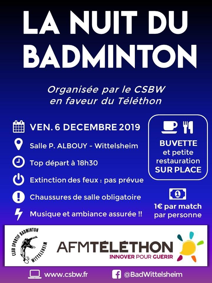 Téléthon / Nuit du badminton 2019
