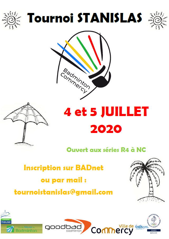 5ème tournoi STANISLAS, Commercy 55 - ANNULÉ -
