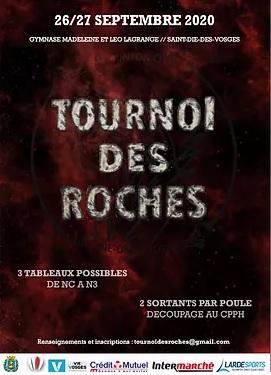 Tournoi des Roches - 2ème édition, Saint-Dié-des-Vosges 88